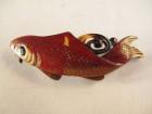 鼈甲蒔絵帯留 鯉