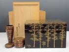 井筒寛斎の竹林蒔絵茶箱
