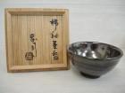 濱田庄司の柿釉茶碗