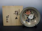 山本重義の色絵小紋飾皿