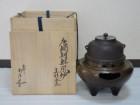 唐銅朝鮮風炉 真形釜