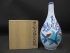 色鍋島桃絵花瓶