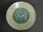 地釉象嵌縄文皿 益子焼