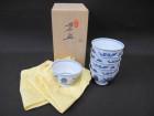 煎茶碗 6客 平安春峰作 中国茶器 煎茶碗 骨董