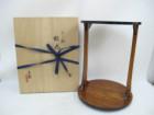 茶棚 岡本漆園作 漆専堂 すり漆松丸卓 組立式 茶道具